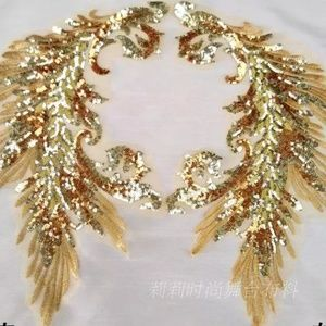 Gold Sequins applique